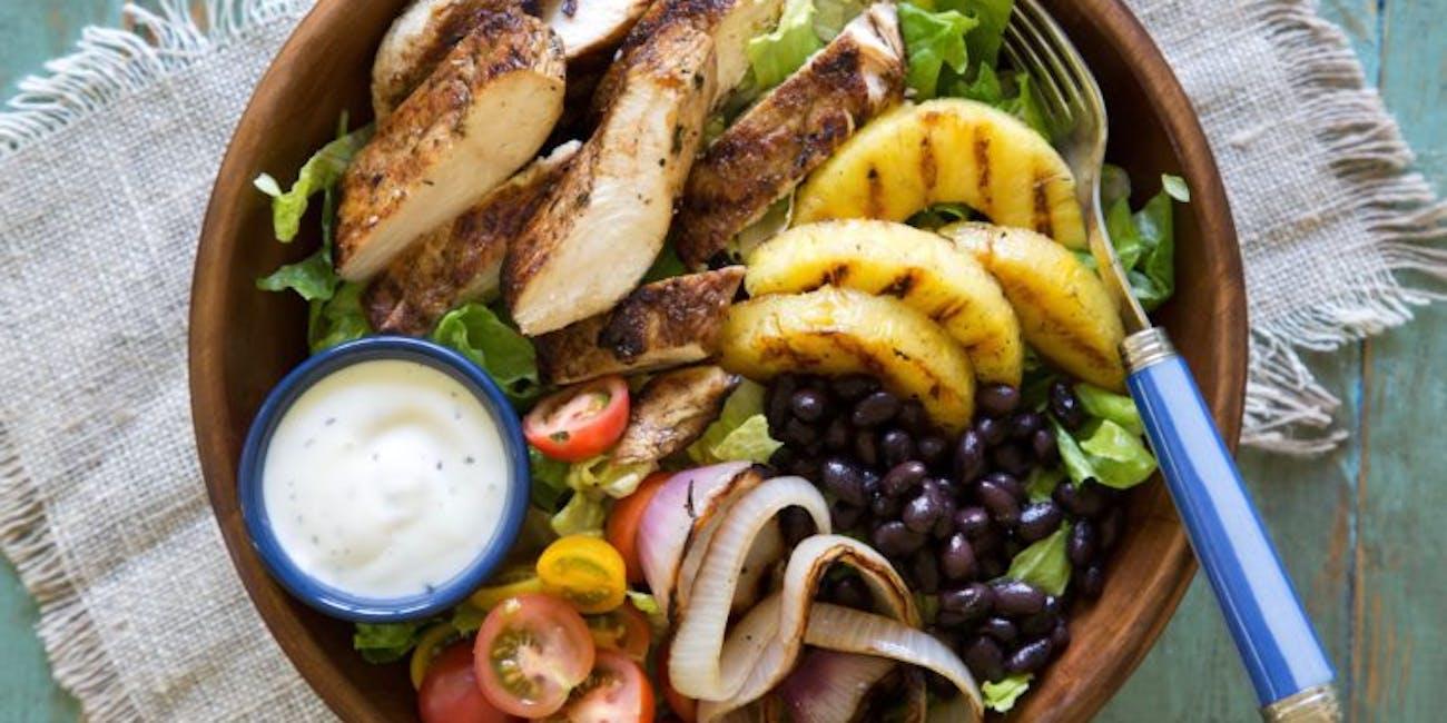 Grilled Jerk Chicken Salad