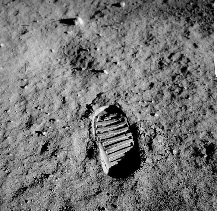 Neil Armstrong's iconic footprint on the surface of the moon might get some company, if Donald Trump is to be believed.