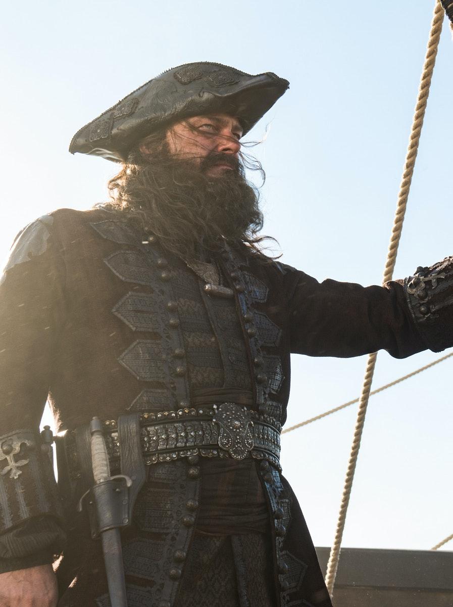 Ray Stevenson as Teach prepares to avenge Charles Vane in Black Sails Season 4