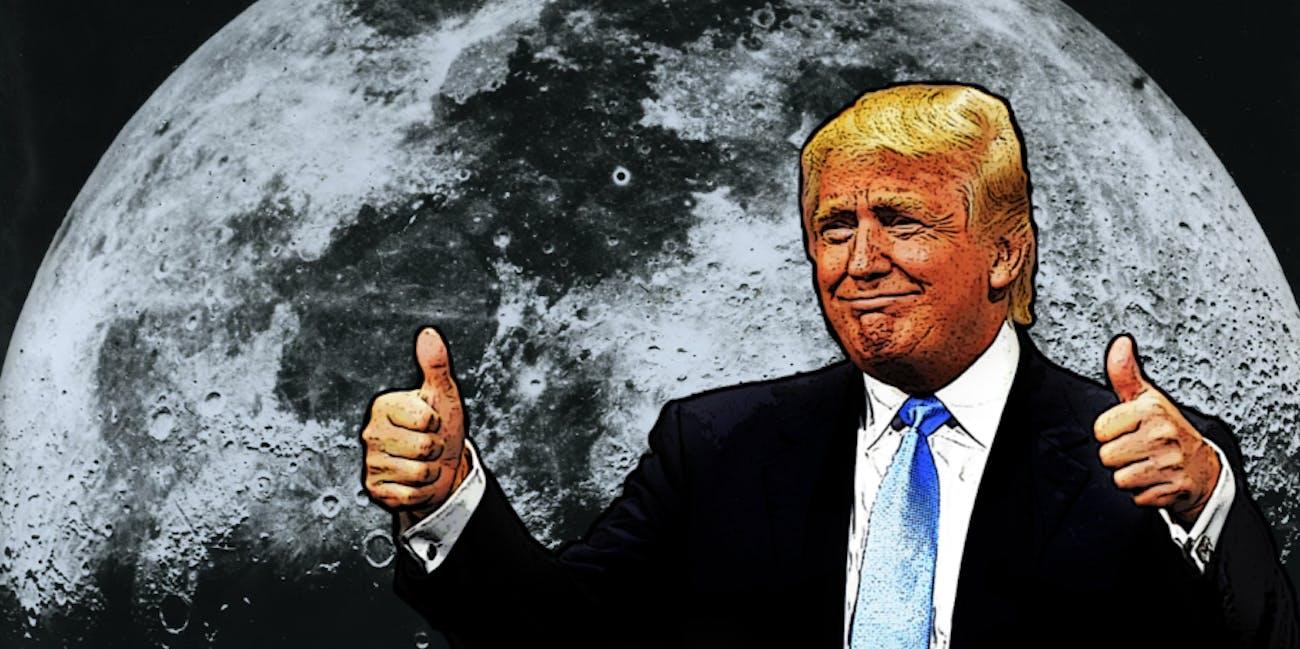 Donald Trump, moon
