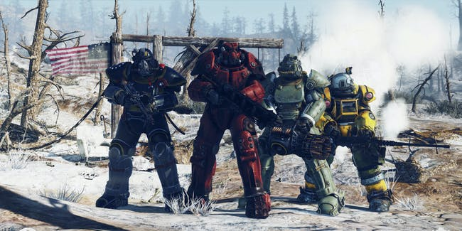 Fallout 76 player group power armor