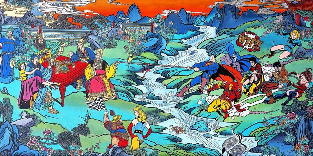 Tug of War by Chinese artist Jacky Tsai