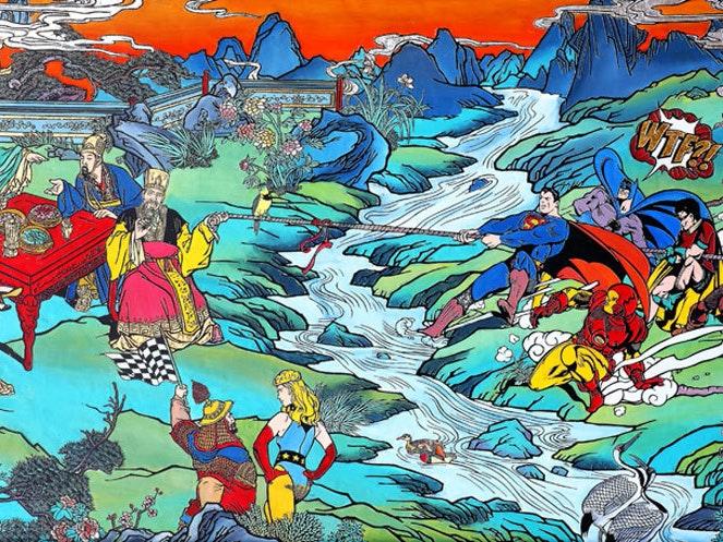 Jacky Tsai Skewers Superheroes, Hollywood, In New Art Series