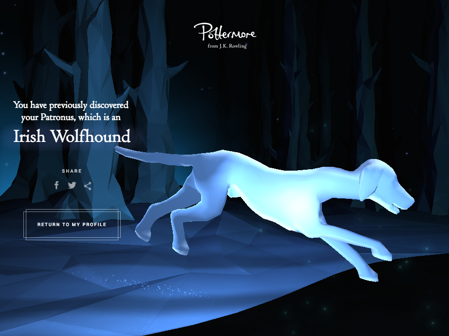 Here's How Pottermore Discovers Your True Patronus