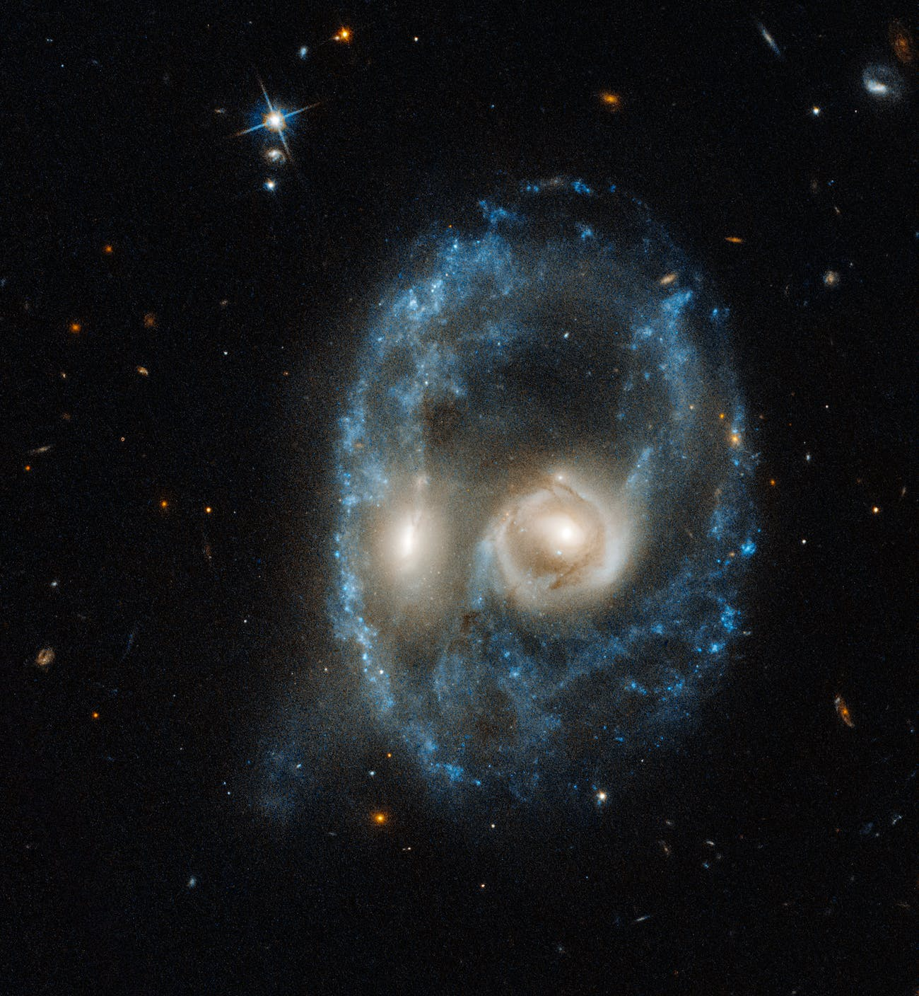 Two galaxies merger