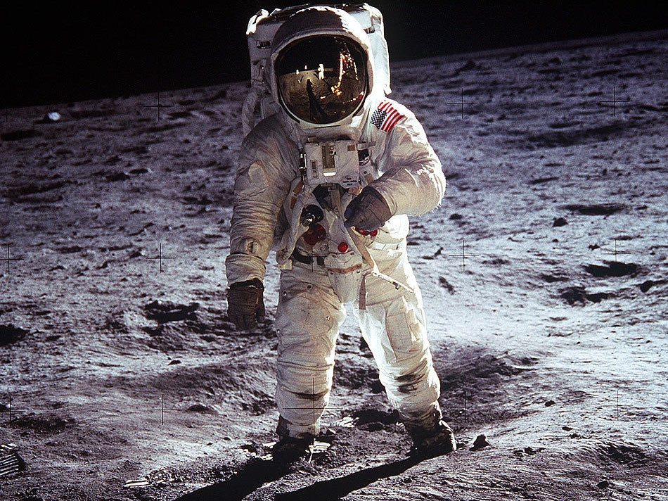 Buzz Aldrin on what I'm being told is not actually the moon.