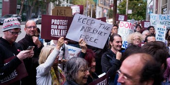 Save net neutrality, San Francisco