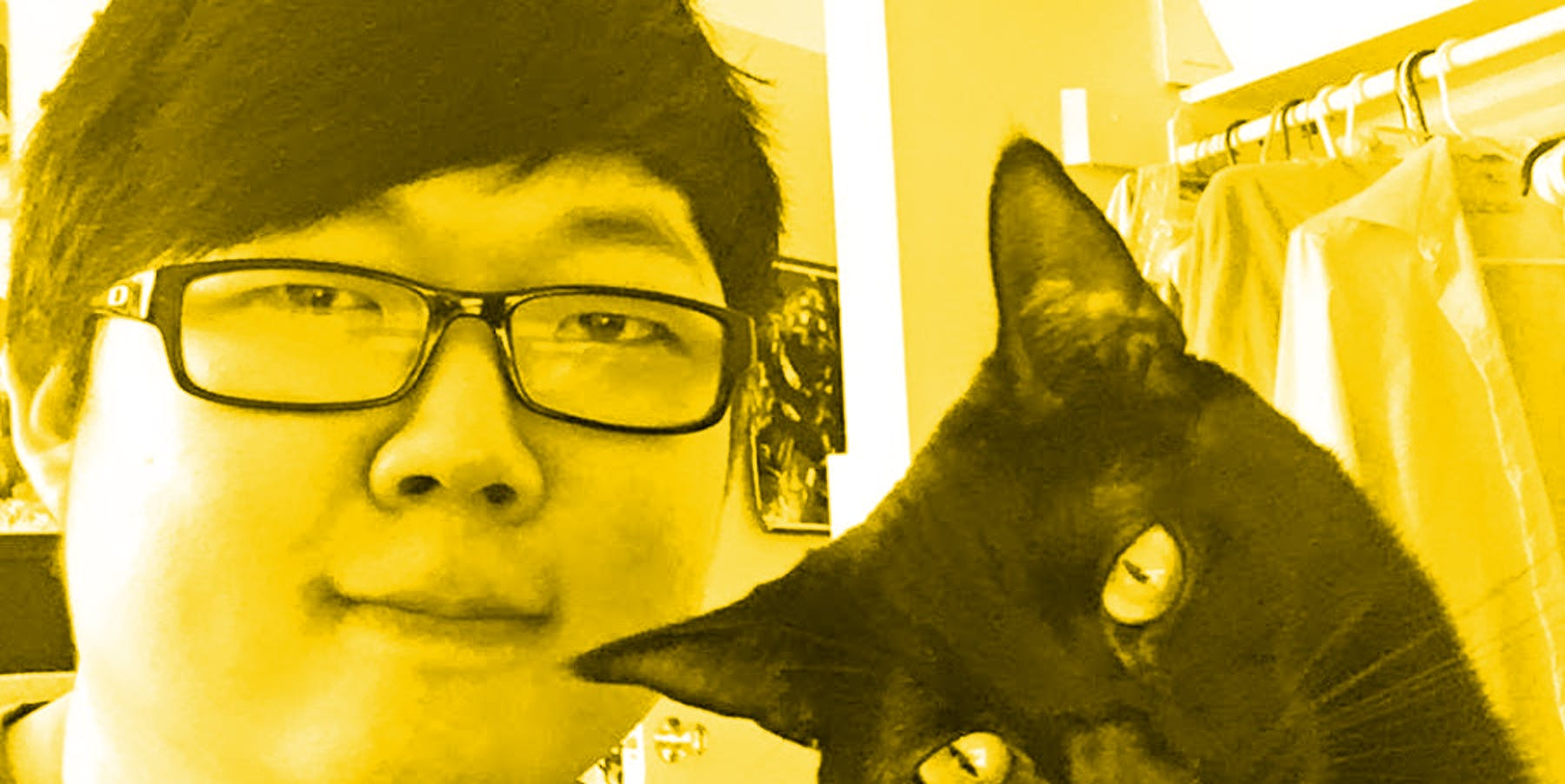 ProZD with his cat Effie