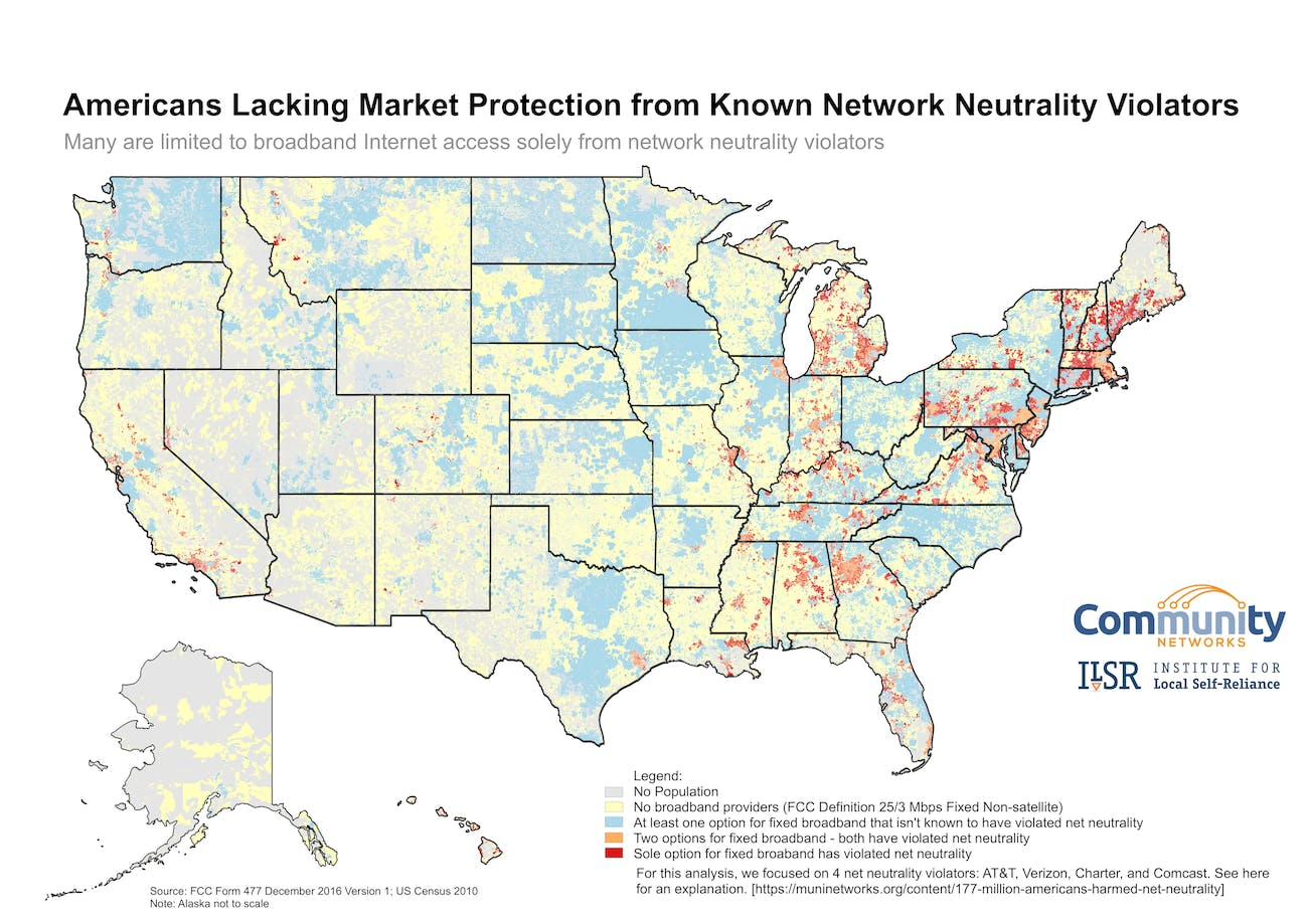 US map ISP