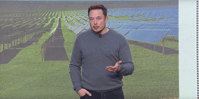 Elon Musk shows off the Tesla Powerpack 2