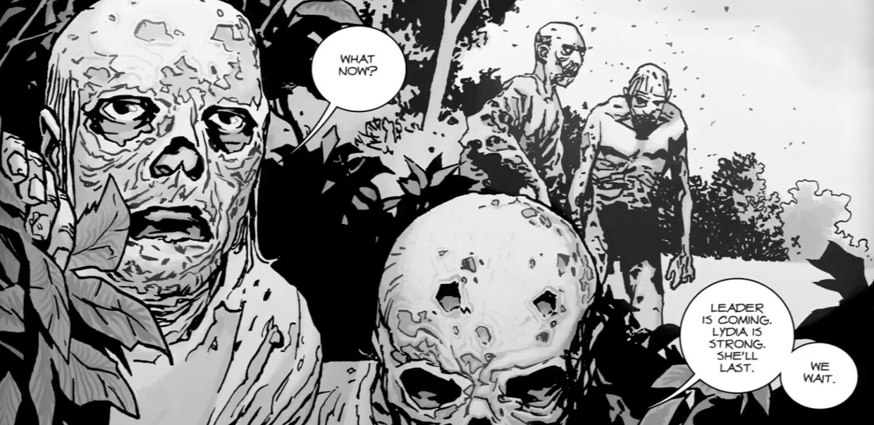 The Whisperers as they appear in Robert Kirkman's 'Walking Dead' comics