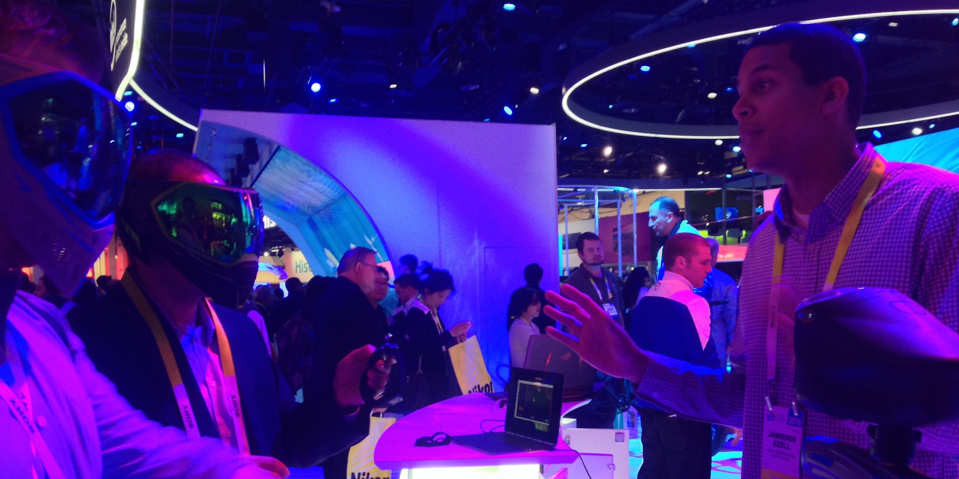 People in masks were actually a normal part of CES.
