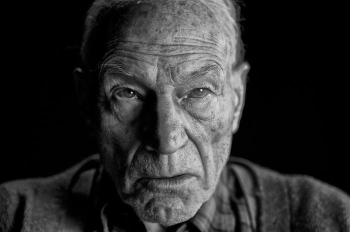 Patrick Stewart as Professor X in 'Logan'