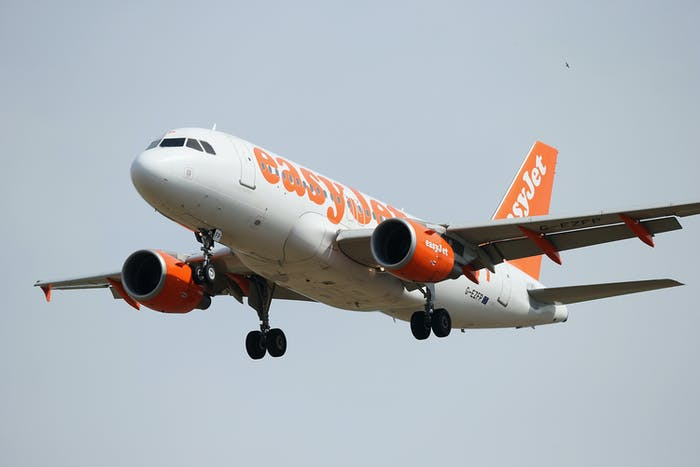 An EasyJet passenger airliner. The company has been in talks with Wright Electric.