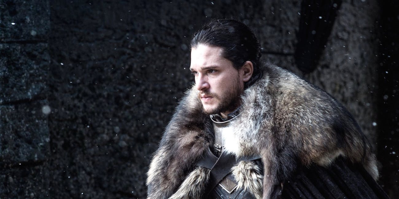 Kit Haringon as Jon Snow, King in the North in 'Game of Thrones' Season 7