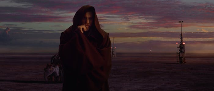 """Obi-Wan in the final moments of """"Revenge of the Sith"""""""