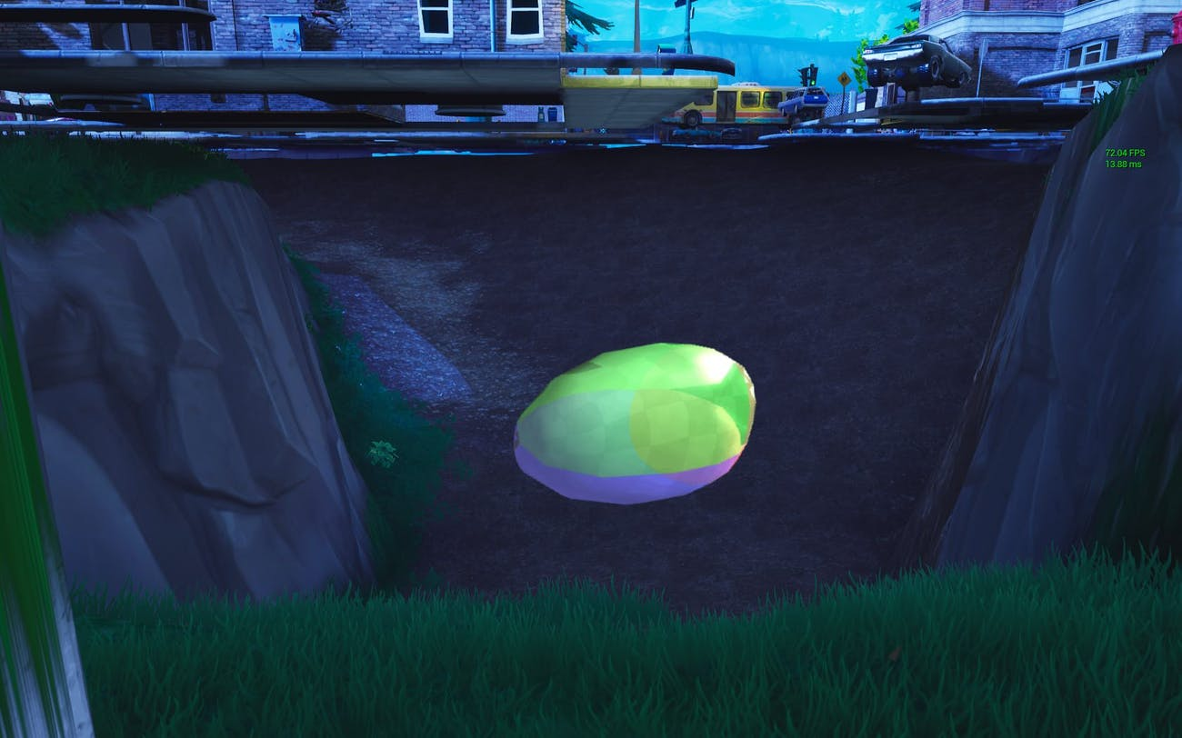 Redditor spar13 supposedly found this Egg-shaped object located underneath Tilted Towers in the 'Fortnite' game files.
