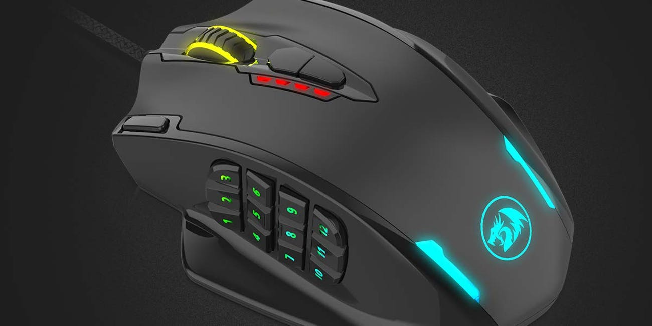 Multi Button Programmable Gaming Mouse for Big Hands