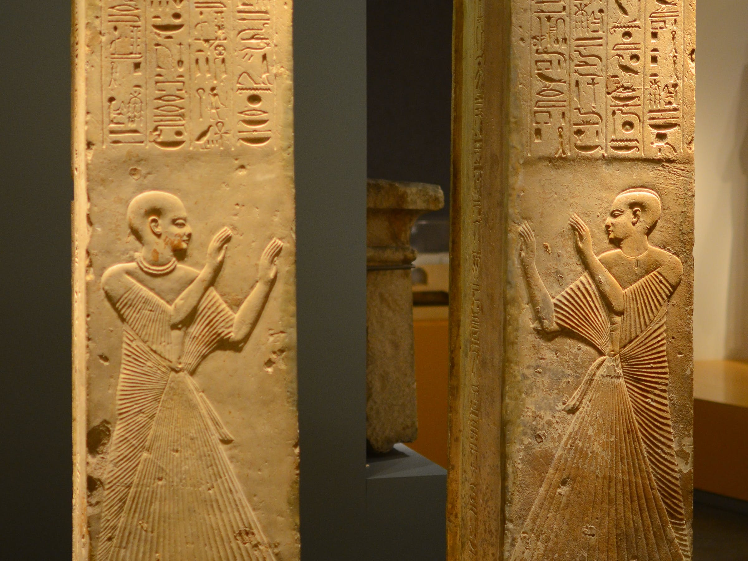 PIllars from the tomb of Ptahmes