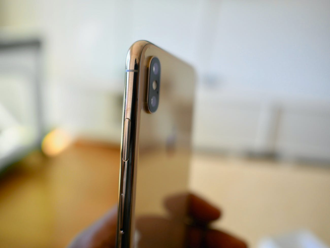 The current dual-camera array on the iPhone XS.