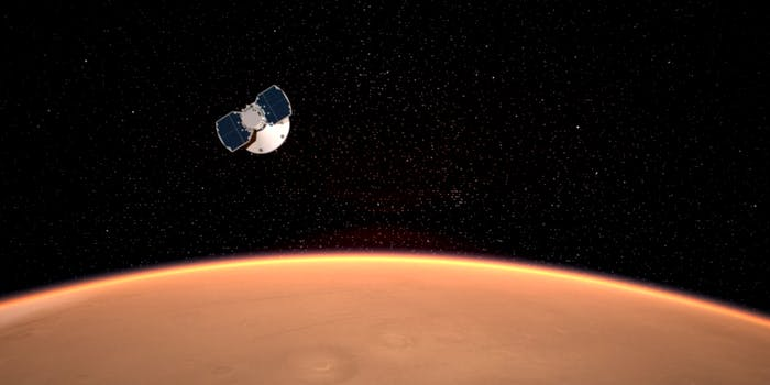 NASA InSight lander approaching Mars