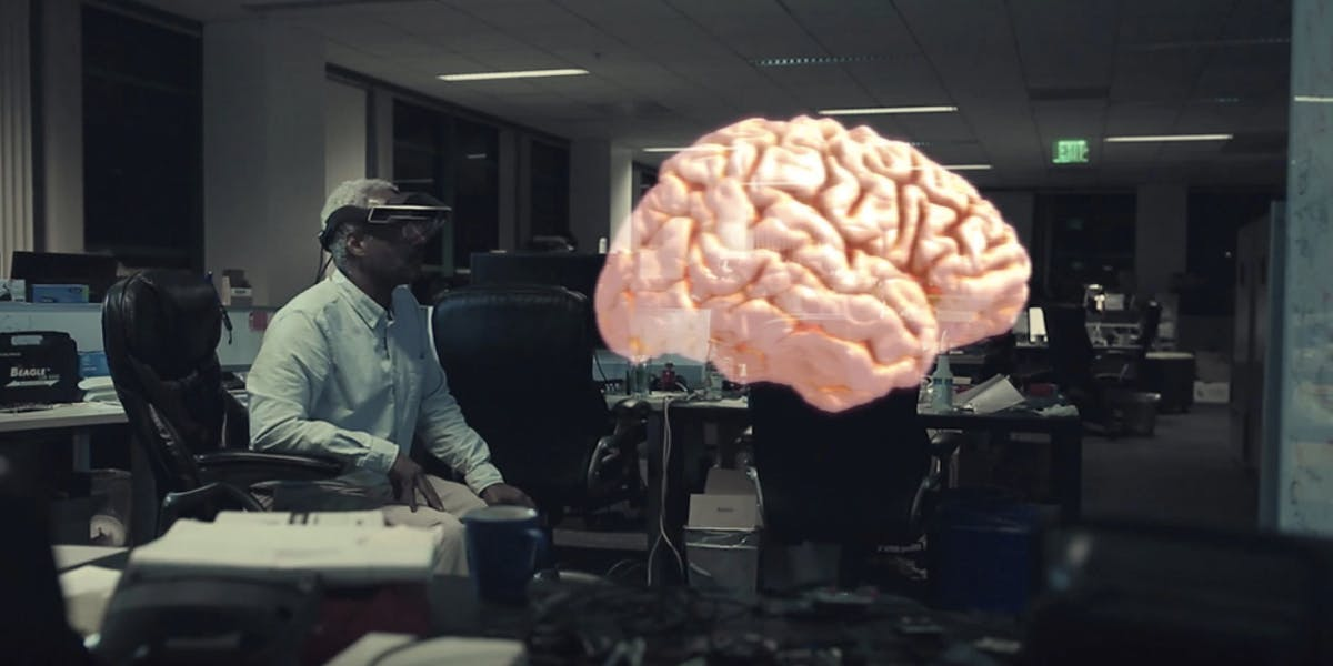 The brain from the Meta 2 headset
