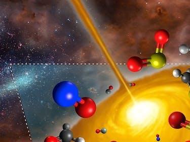 Strange Chemistry for a Newborn Star