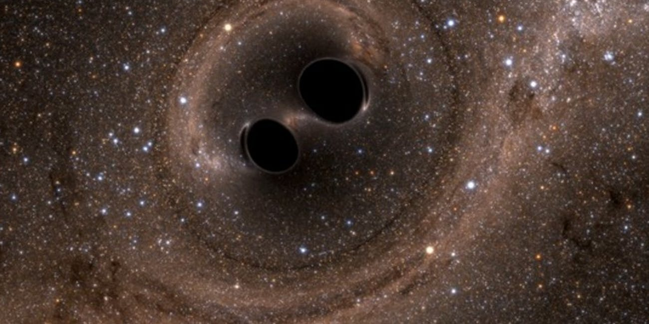 LIGO detected gravitational waves resulting from two black holes crashing into one another.