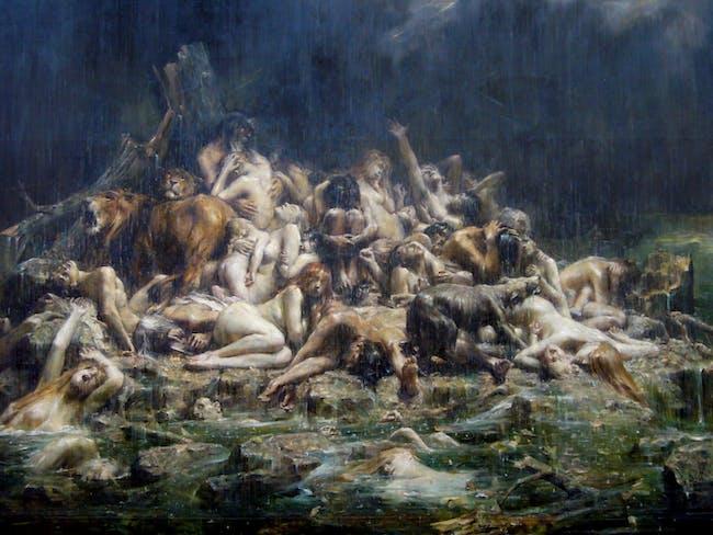 Leon Comerre - Le déluge de Noe et les compagnons (early 20th century)