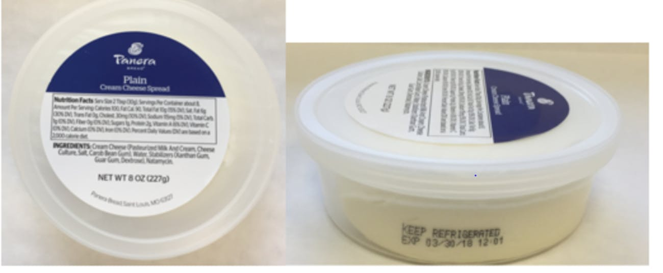 panera cream cheese listeria recall