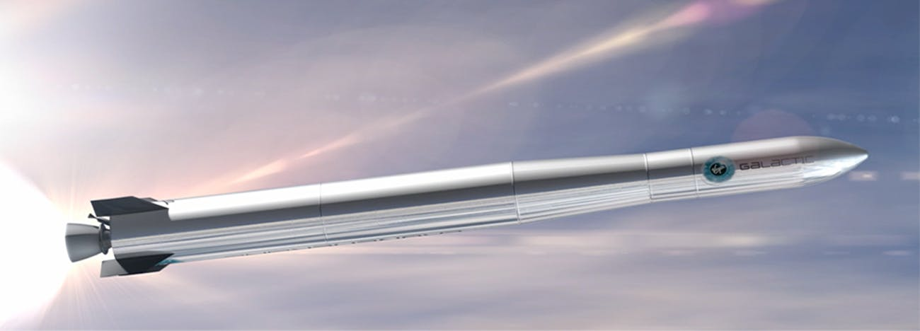 Virgin Galactic's LauncherOne rocket now operated by Virgin Orbit.