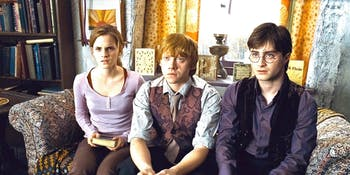 Hermione, Ron, and Harry in 'Harry Potter and the Deathly Hallows'