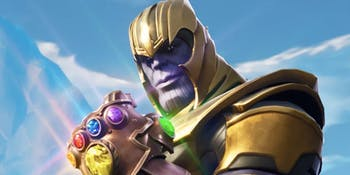 Here's how Thanos appears in 'Fortnite'.