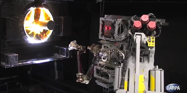 DARPA made a concept video of its Robotic Servicing of Geosynchronous Satellites (RSGS) program.