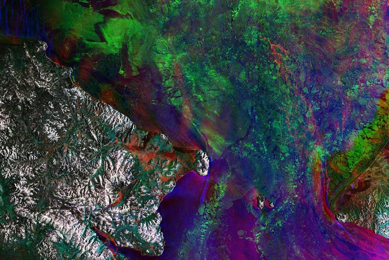 bering strait map satellite ESA