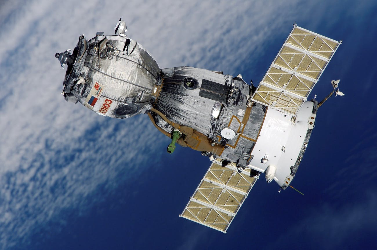 The Russian-government made Soyuz vehicle.