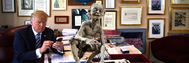 Actor Andy Serkis read President Donald Trump's tweets as his former 'Lord of the Rings' character Gollum.