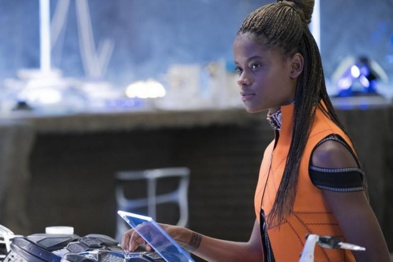 Princess Shuri in her lab in 'Black Panther'.