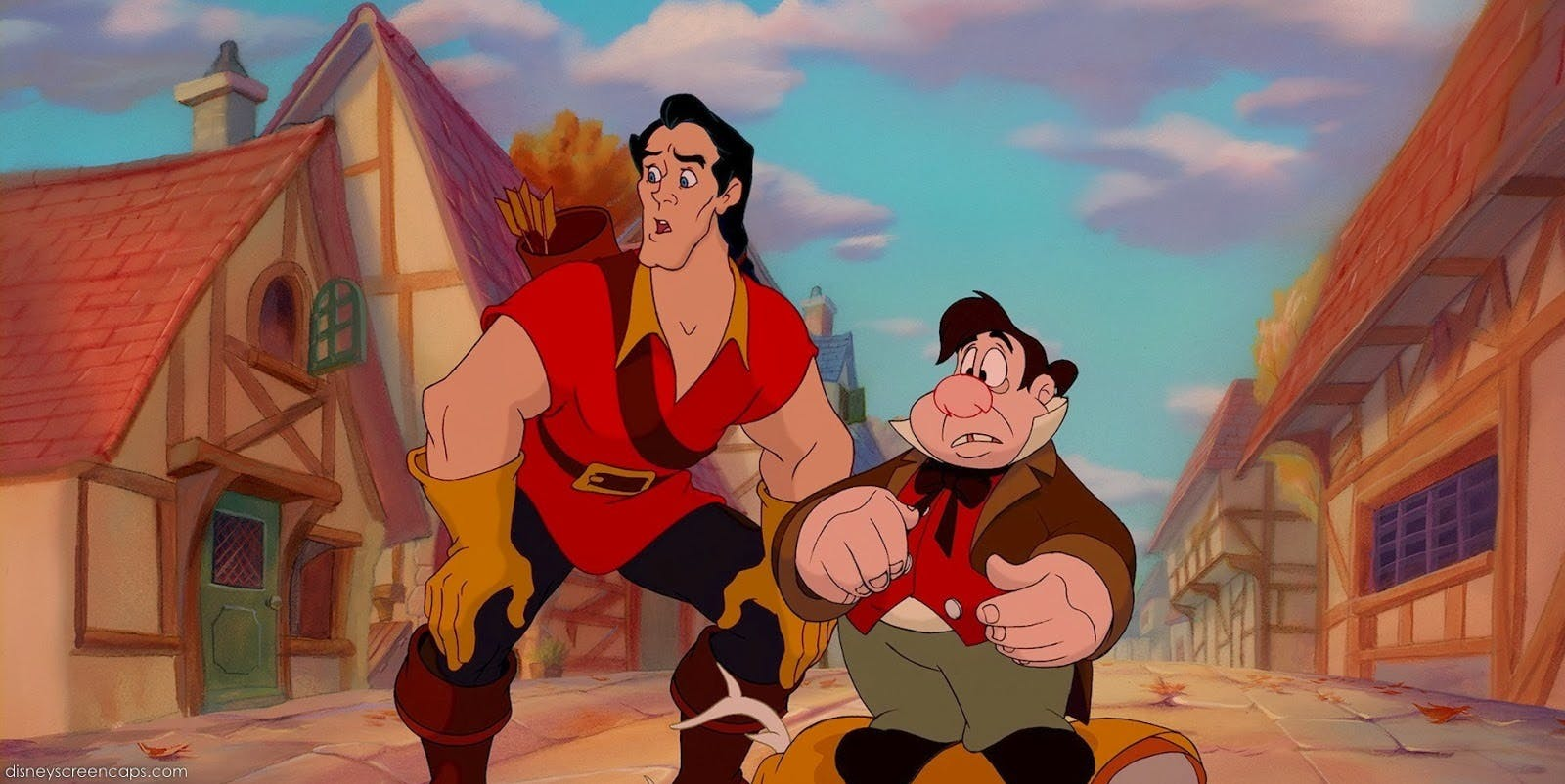 Gaston and LeFou in the 1991 animated 'Beauty and the Beast.'