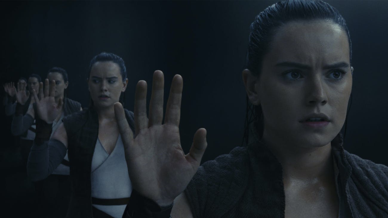 Rey on her vision quest in 'The Last Jedi'.