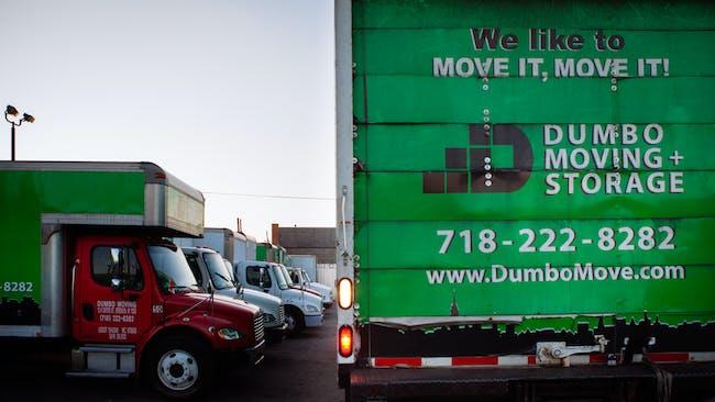 Dumbo's moving trucks in action.