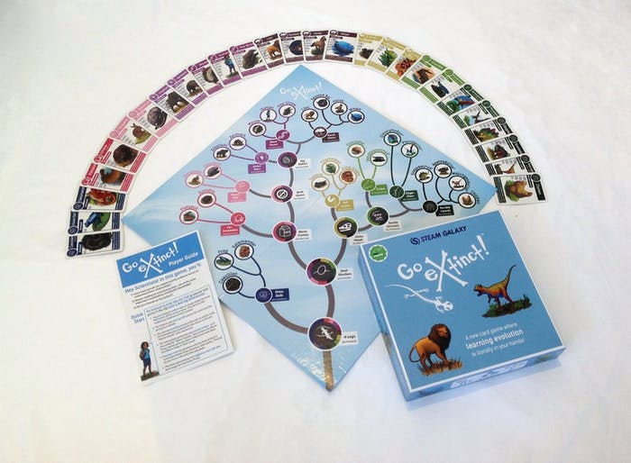 All you need for the Go Extinct card game.