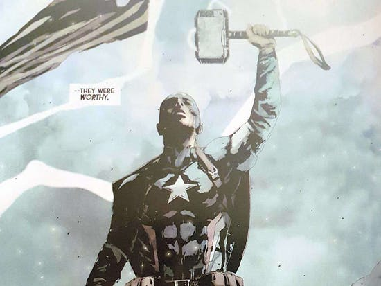 Evil Captain America Lifting Mjölnir Has Major Nazi Connections