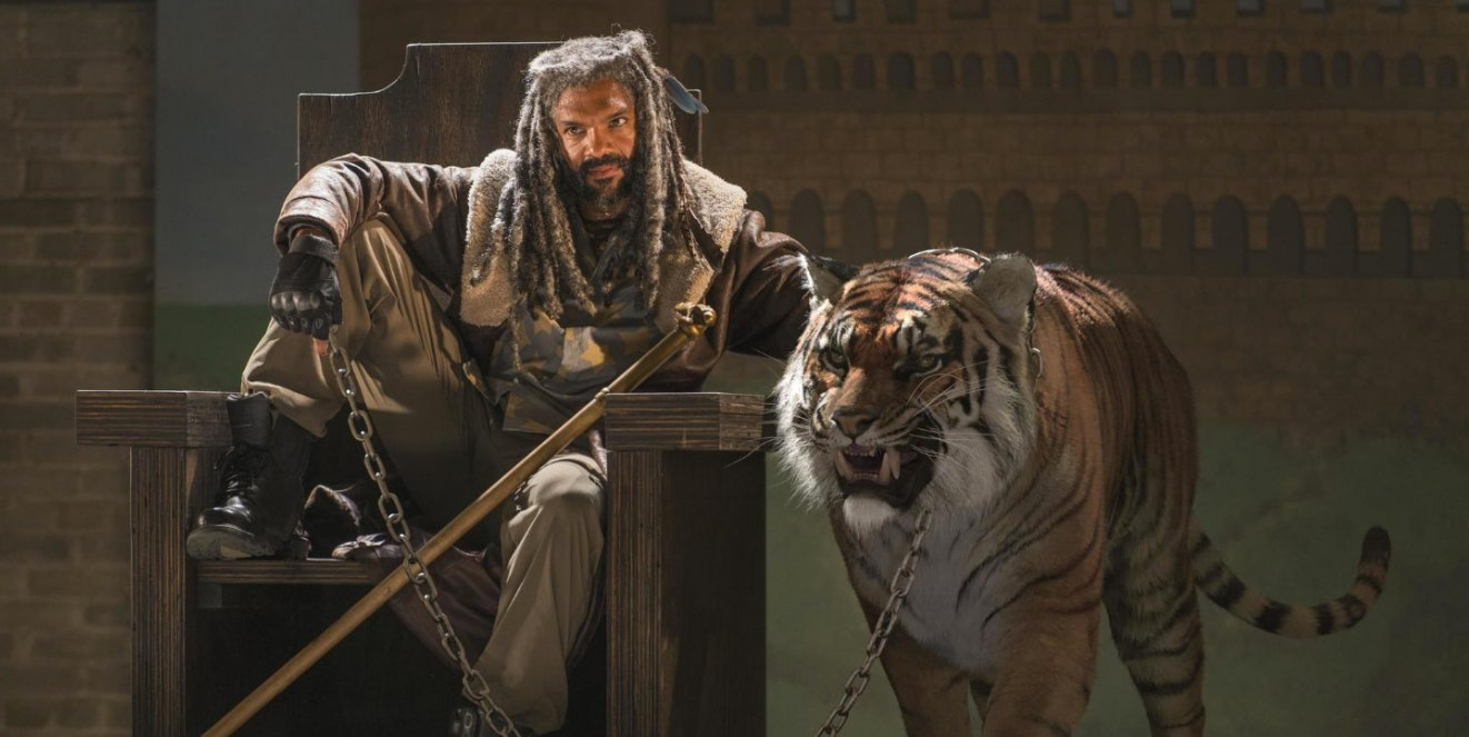 "King Ezekiel has a tiger named Shiva on ""The Walking Dead."""