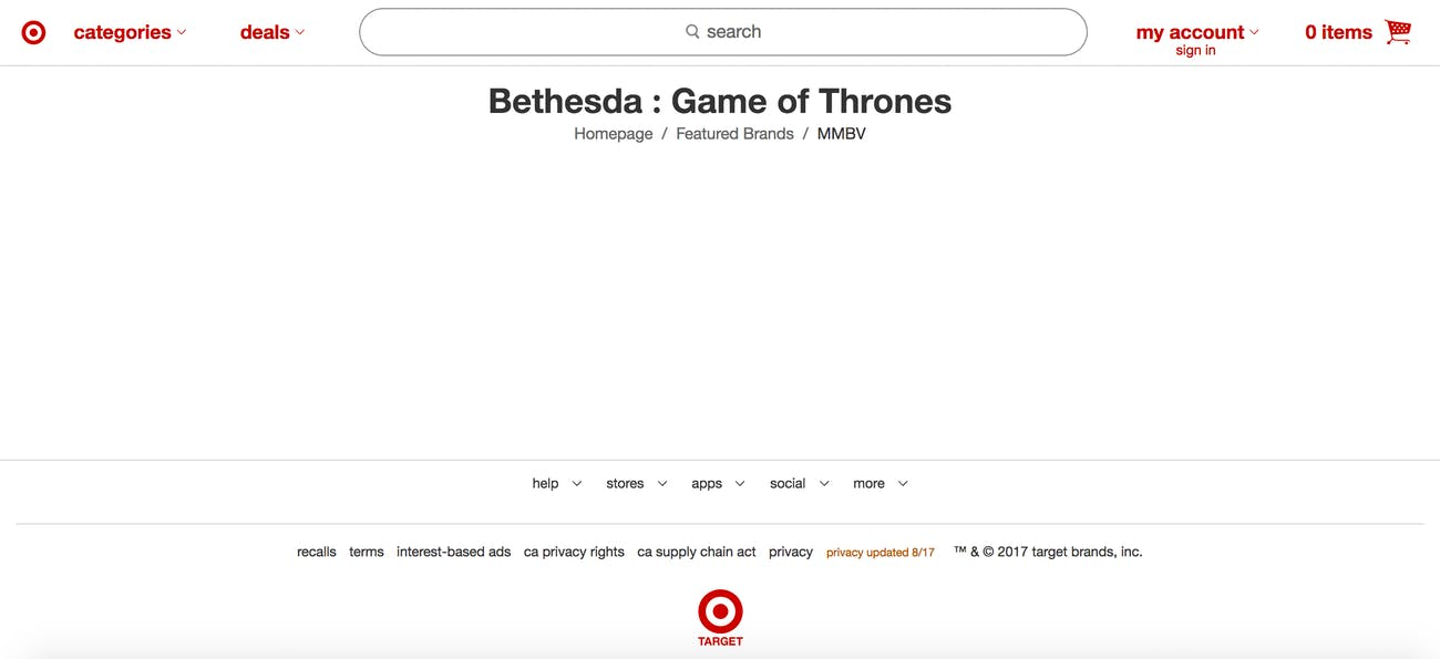Why would Target ever create a landing page for this?