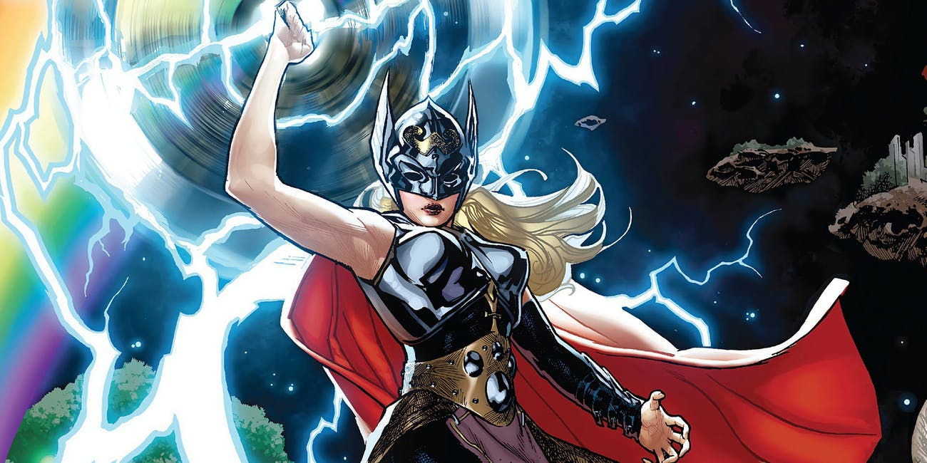 Jane Foster as Thor in The Mighty Thor comics
