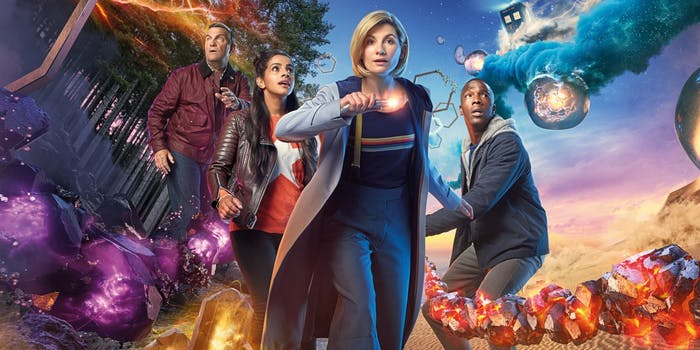 The Doctor and her three new companions in 'Doctor Who' Season 11.