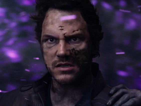 Star-Lord played by Chris Pratt in 'Guardians of the Galaxy vol. 2'
