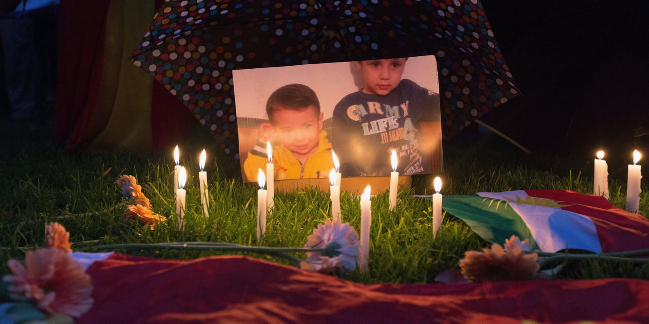 shrine for Aylan Kurdi