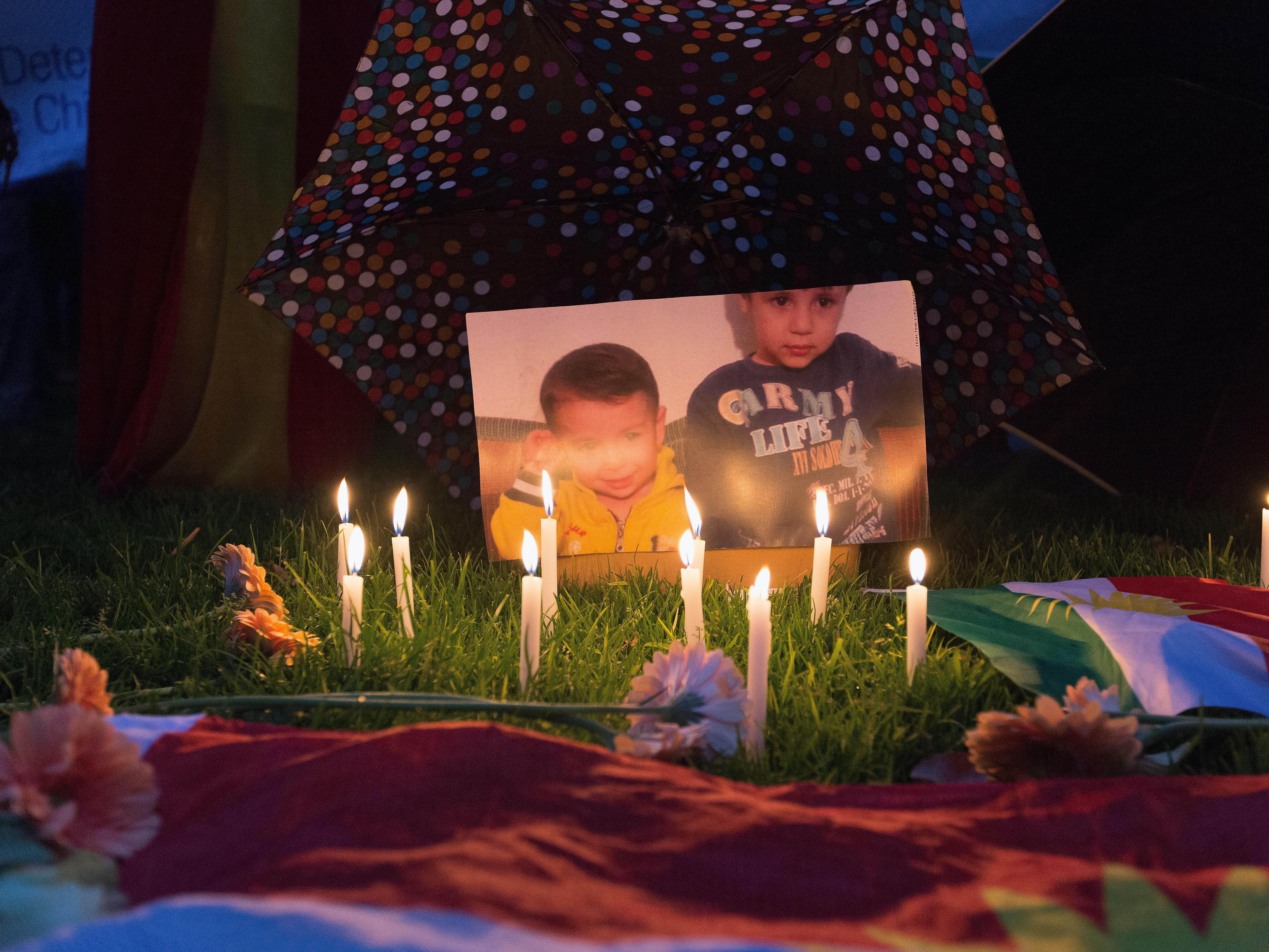shrine for Aylan Kurdi